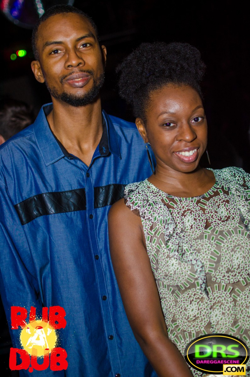 photo of Highlanda's Kahlil Wonda with Mrs. Wonda at Rub A Dub ATL Bob Marley Birthday Bash 2017