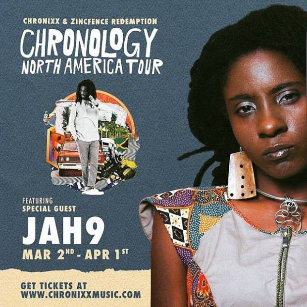 Artwork for Jah9 Chonology Tour 2017