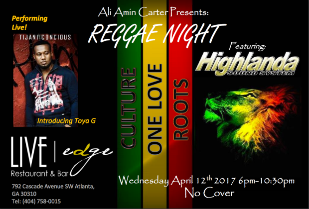 Reggae Night at Live Edge ATL Restaurant/Lounge