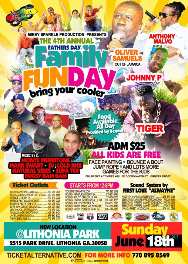 The 4th Annual Mikey Sparkle Father's Day Family Funday - 2017 event promotion