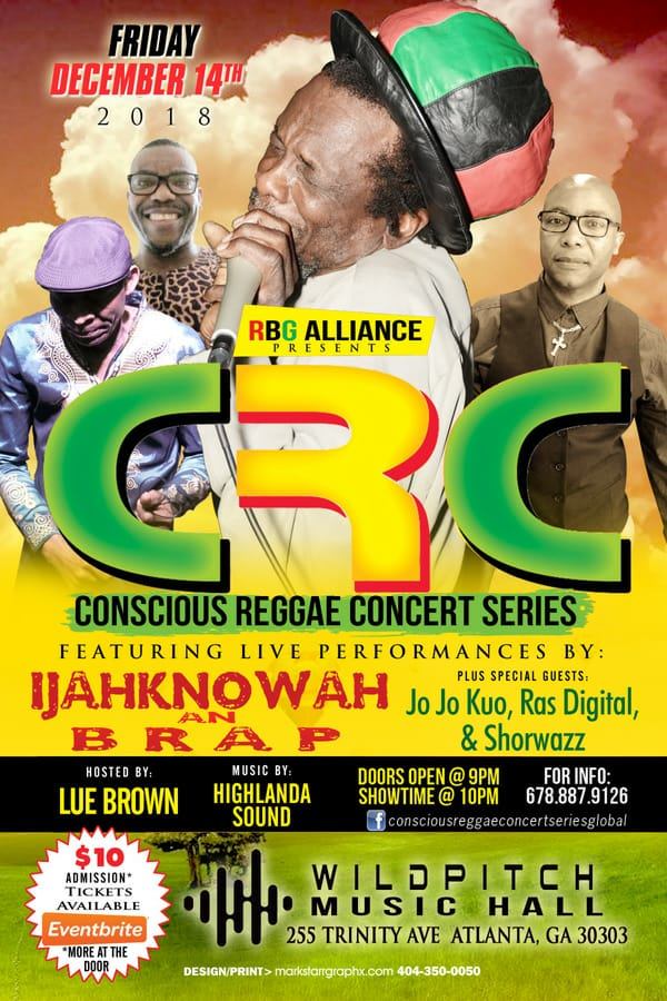 Conscious Reggae Concert with Ijahknowah & Highlanda Sound, Friday 12.14.18 @ WildPitch