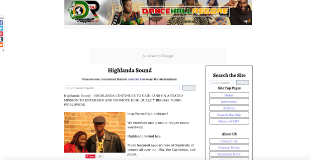 Dancehall Reggae World Atlanta reggae music Highlanda Sound feature