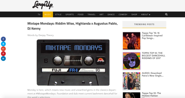 Mixtape Mondays: Riddim Wise, Highlanda x Augustus Pablo, DJ Kenny Words by Deejay Theory MM 40