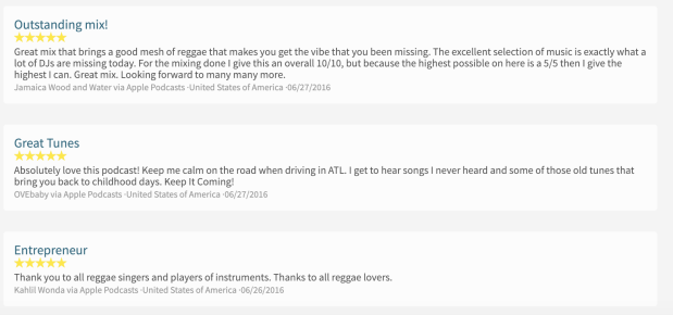 Reviews of Reggae Lover on iTunes