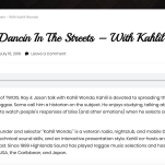 TWOIS - Dancin In The Streets – With Kahlil Wonda